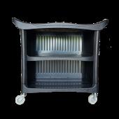 Пластиковый стол на колесиках с задней стенкой