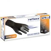Одноразовые перчатки химостойкие сверхдлинные 30см. Reflexx N79P-L Plus. 7,7 гр. Толщина 0,14 мм.