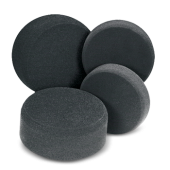 Finishing pad, black - полировальный круг чёрный 160 х 30 мм
