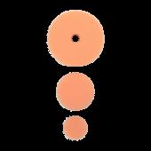 Полировальный круг комплект - полутвердый антиголограммный 75мм/54мм/34мм- оранж