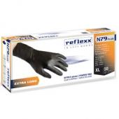 Одноразовые перчатки химостойкие сверхдлинные 30см. Reflexx N79P-M Plus. 7,7 гр. Толщина 0,14 мм.