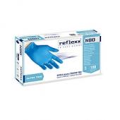 Резиновые перчатки, нитриловые, синие, Reflexx N80B-M. 3 гр. Толщина 0,06 мм.