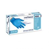 Резиновые перчатки, нитриловые, синие, Reflexx N80B-L. 3 гр. Толщина 0,06 мм.