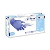 Резиновые перчатки, нитриловые, синие, Reflexx R76-M. 3,5 гр. Толщина 0,07 мм. R76-M