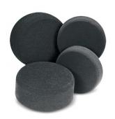 Finishing pad, black - полировальный круг чёрный 210 х 30 мм